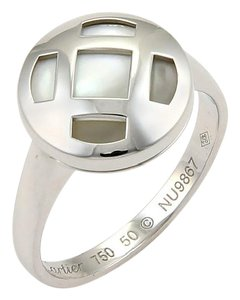 Cartier #16104 Cartier Pasha Mother Of Pearl 18k White Gold Ring w/Cert