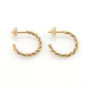 Cartier Cartier Trinity 18k Tri-Color Gold Twisted Semi Hoop Stud Earrings