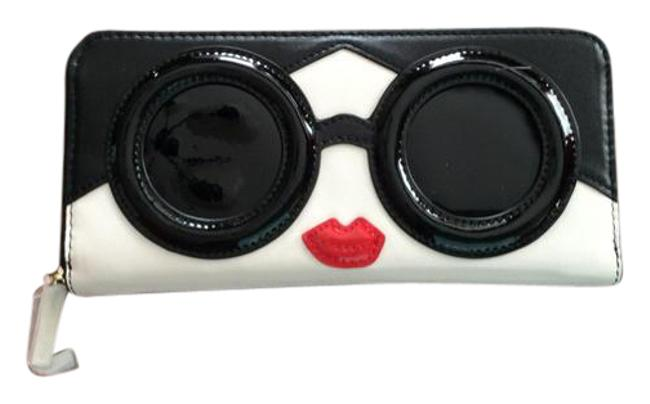 Item - Black and White Long Face Patent Wallet