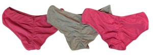 Victoria's Secret Set of 3 Ruched Butt Cotton Hip-Hugger Panties Small-NEW!