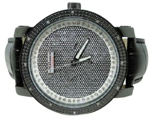 JoJino JOJO/JOJINO/JOE RODEO BLACK DIAL WHITE DIAMOND WATCH