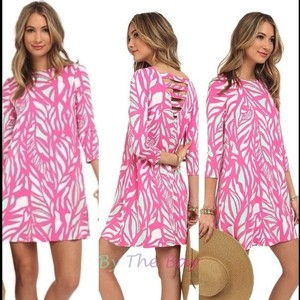 Lilly Pulitzer short dress Pink & White Swing on Tradesy