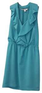 Diane von Furstenberg short dress blue / aqua on Tradesy