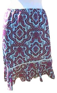Mary-Kate and Ashley Nice Small Asymmetrical Skirt Printed