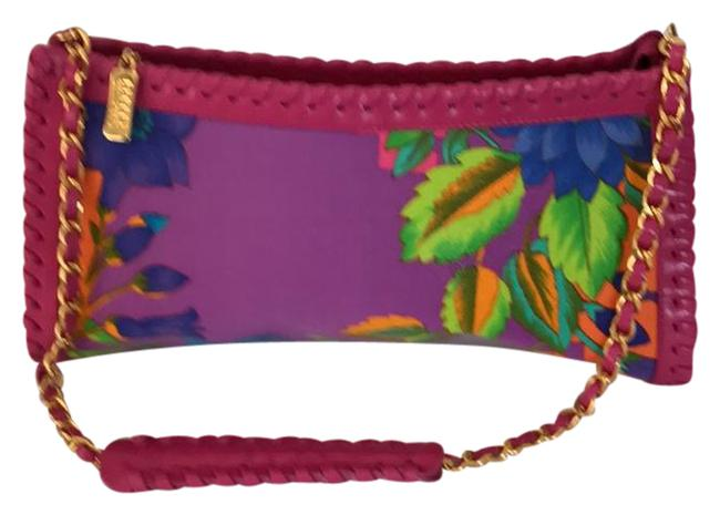 Item - Caribbean Casual Multicolor Leather and Fabric Shoulder Bag