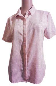 Jaclyn Smith Polka Dot Size 10 Top Pink