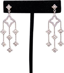 David Yurman David Yurman Diamond Chandelier Quatrefoil Earrings