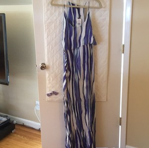 violet/ purple/ white Maxi Dress by paulahermanny