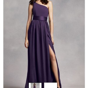 David's Bridal Amethyst Davids Bridal Long One Shoulder Dress