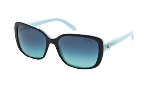 Tiffany & Co. NEW Twist Bow Sunglasses TF 4092 c. 8055/4S Black & Tiffany Blue