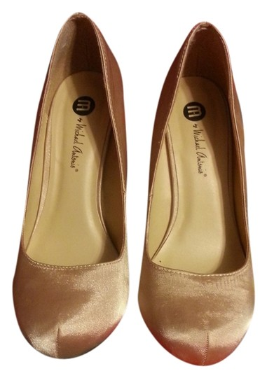 Michael Antonio Satin 6 Comfortable Gold Pumps
