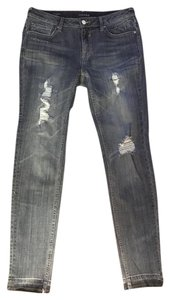 Vigoss Distressed Released Hem Skinny Jeans-Distressed