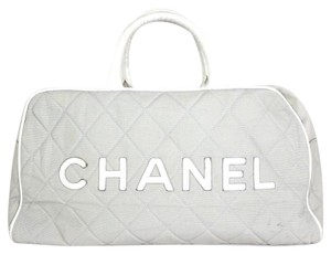 Chanel light gray Travel Bag