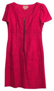 Phoebe Couture short dress pink linen on Tradesy