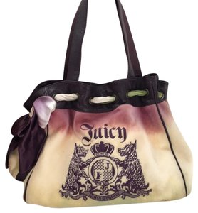 Juicy Couture Tote in purple green