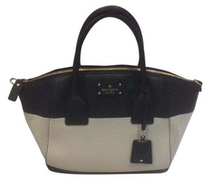 Kate Spade Kendall Court Small Satchel in Black and Canvas