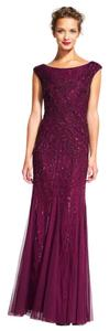 Adrianna Papell Gown Beaded Embellished Evening Dress