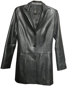 BCBGMAXAZRIA Evening A-line Fall Casual Leather Jacket