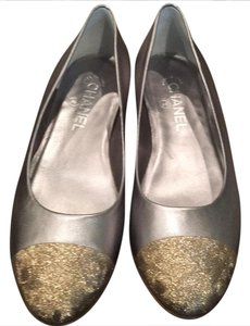 Chanel silver and gold Flats