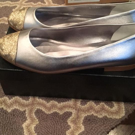 Chanel silver and gold Flats Image 1