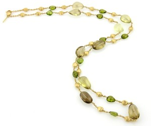 Marco Bicego Confetti Citrine & Peridot Gem 18k Gold Necklace