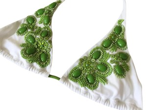 Victoria's Secret Victoria's Secret Beaded Halter Bikini Top