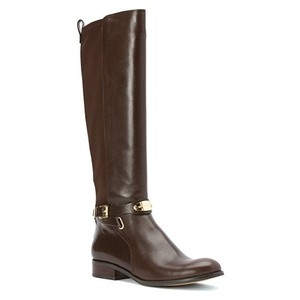 Michael Kors Leather Arley Brown Boots