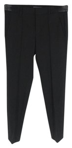 Vince Classic Cropped Pintuck Trouser Pants Black