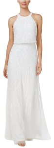 Adrianna Papell Sequin Halter Gown Dress