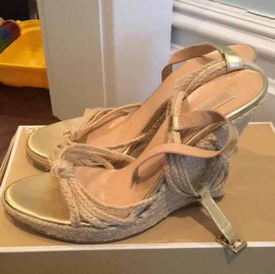 Michael Kors beige and gold Wedges Image 1