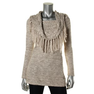 INC International Concepts Cotton Fringe Sweater