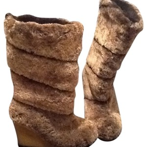 Tory Burch Brown/Beige Mix Boots