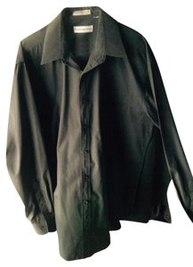 Courreges Mens Work Shirt Work Shirt Plain Shirt Shirt Shirt Button Down Shirt Black