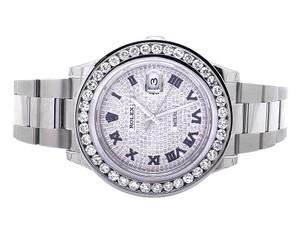 Rolex Mens 41 MM Custom Watch with 9.5 Ct Diamond and Pave Diamond Dial