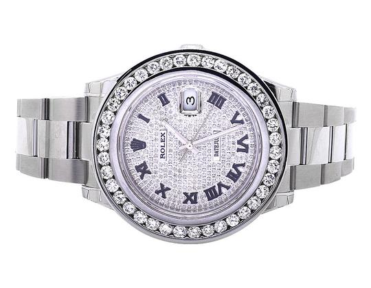 Preload https://img-static.tradesy.com/item/20999450/rolex-stainless-stee-mens-41-mm-custom-with-95-ct-diamond-and-pave-diamond-dial-watch-0-0-540-540.jpg