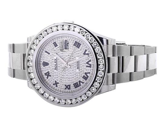 Rolex Mens 41 MM Custom Watch with 9.5 Ct Diamond and Pave Diamond Dial Image 5