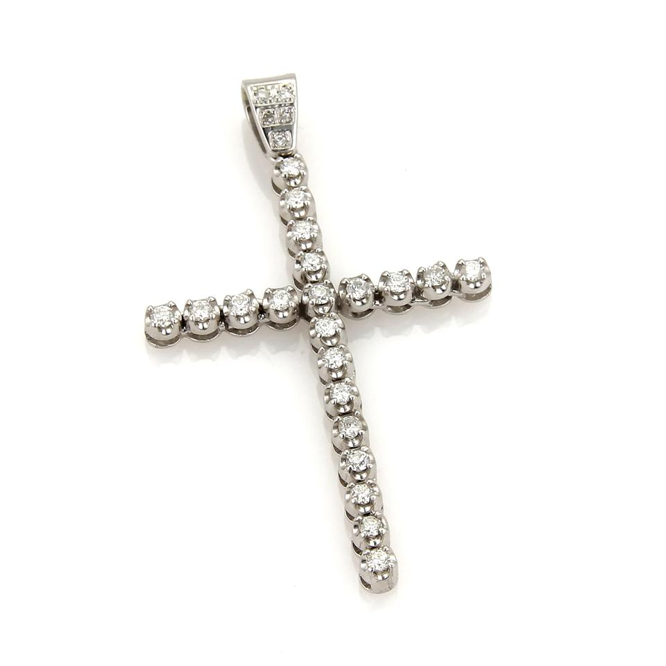 Modern vintage 20362 100ct diamond 14k white gold large cross modern vintage 20362 100ct diamond 14k white gold large cross pendant mozeypictures