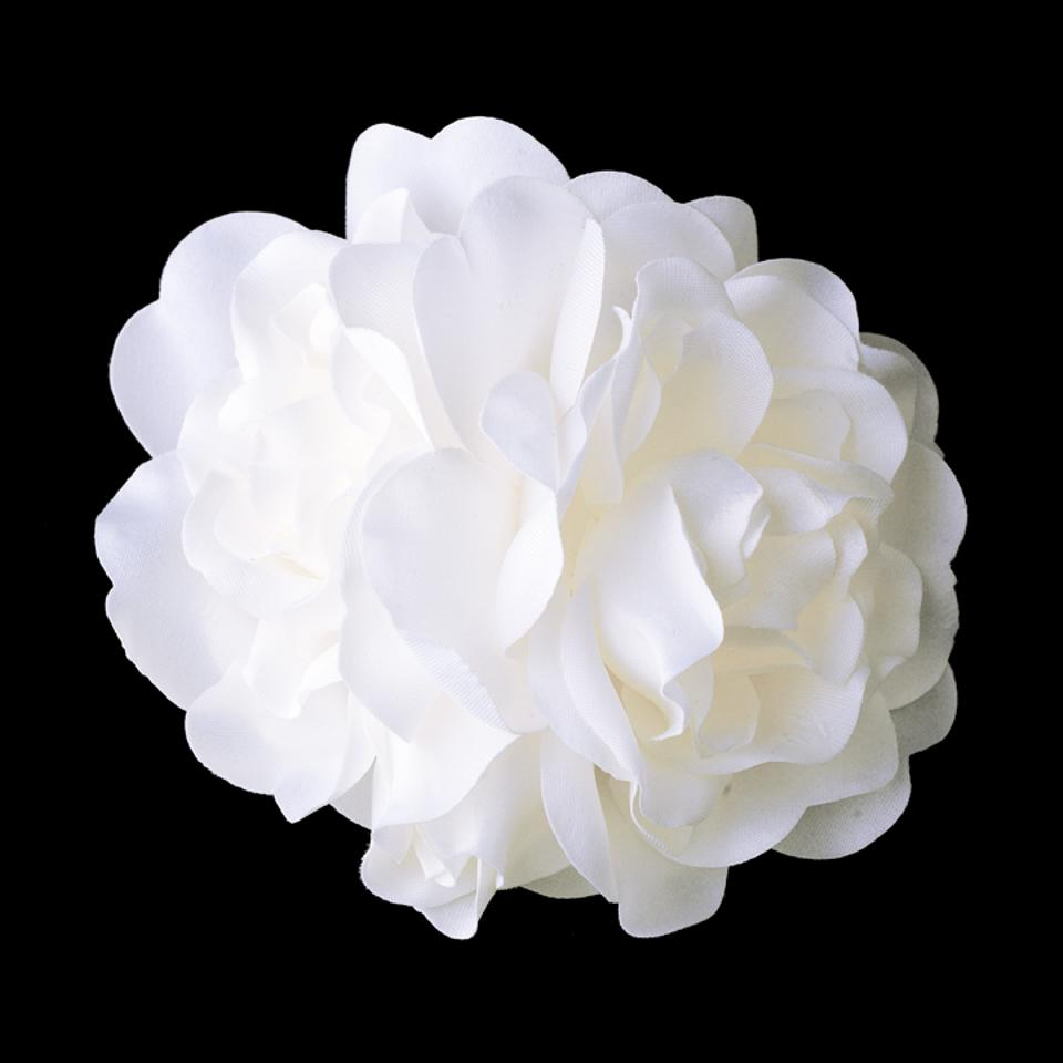 Elegance By Carbonneau White Gardenia Cluster Flower On Clip 411