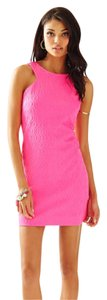 Lilly Pulitzer short dress Tropical Pink Shift Jacquard Metallic on Tradesy