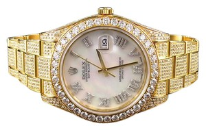 Rolex 41 MM Rolex Date Just II 2 Flooded With Genuine Diamonds Yellow Gold