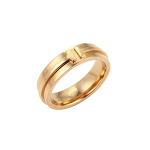 Tiffany & Co. Tiffany & Co. T Two 18k Rose Gold Band Ring