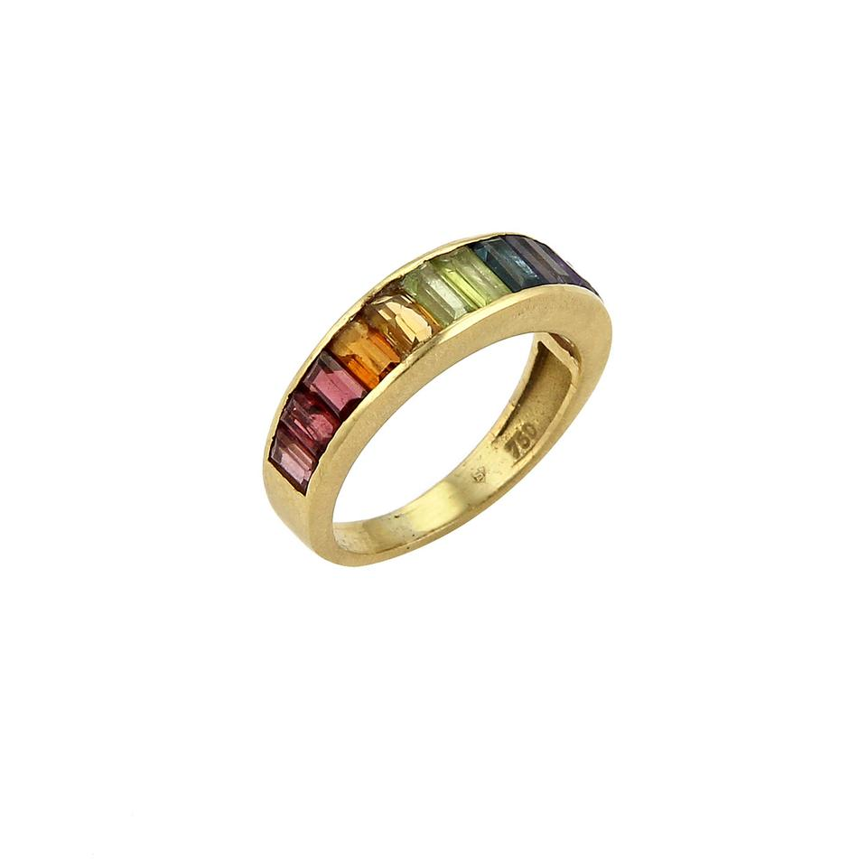 H.Stern Rainbow Collection Gemstones 18k Yellow Gold Band Ring ...