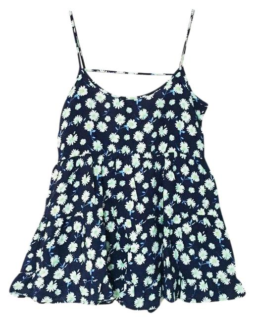 Preload https://img-static.tradesy.com/item/20999564/blue-boho-floral-tiered-baby-doll-flared-tank-topcami-size-4-s-0-1-650-650.jpg