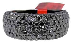 Other Black on Black PVD Diamond Round Cut Pave Wedding Band Ring 2.5 Ct