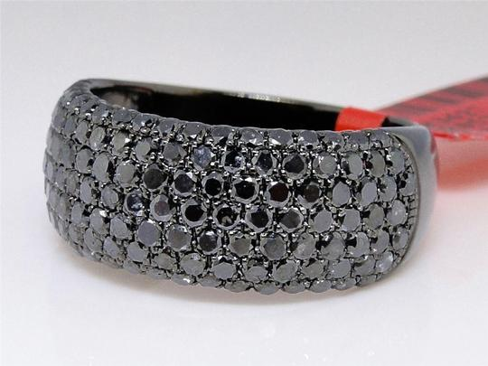 Other Black on Black PVD Diamond Round Cut Pave Wedding Band Ring 2.5 Ct Image 4