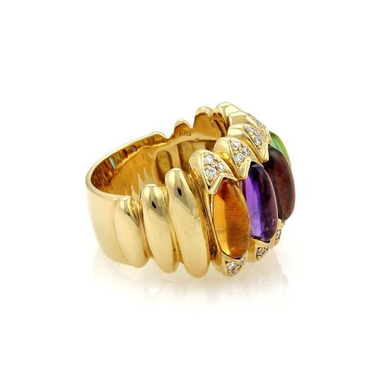 Other Diamond Multicolor Gems 18k Gold Ring Image 1