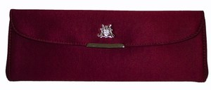 Asprey burgandy Clutch