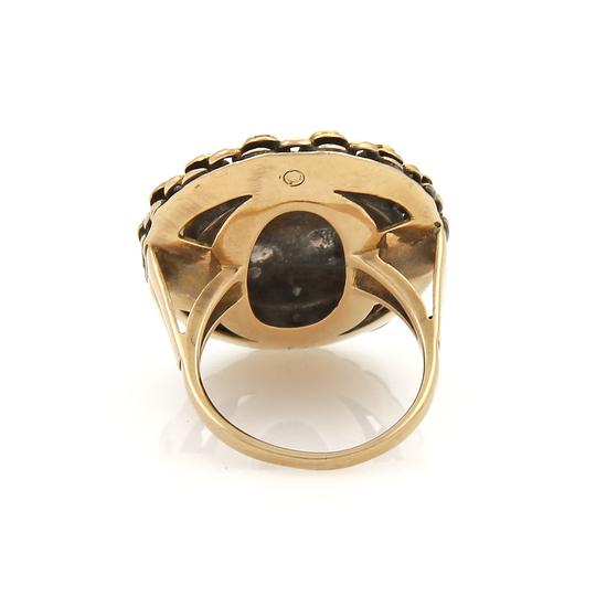 Other Antique Seed Pearls Blue Enamel 14k Gold Ring Image 2