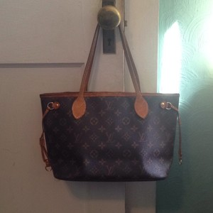 Louis Vuitton Neverfull Pm Mm Gm Monogram Tote in Brown