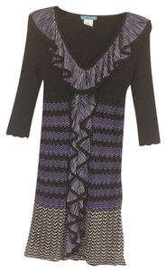 Marciano Knit Striped Chevron Dress
